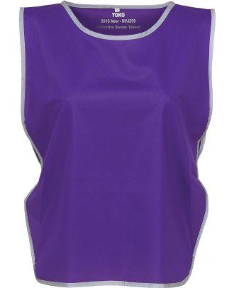 Chasuble à bordure réfléchissante HVJ259 - Purple