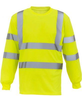 T-shirt haute visibilité manches longues HVJ420 - Hi Vis Yellow