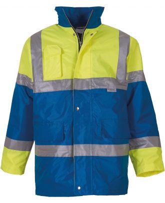 Veste imperméable haute visibilité YHVP303 - Hi Vis Yellow / Royal Blue