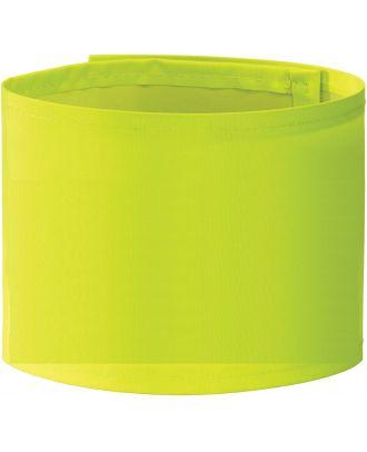 Brassard haute visibilité large personnalisable HVW066 - Hi Vis Yellow