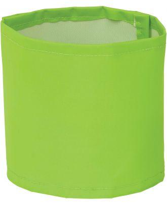 Brassard haute visibilité large personnalisable HVW066 - Lime