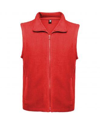 Veste polaire avec col montant et zip BELLAGIO rouge